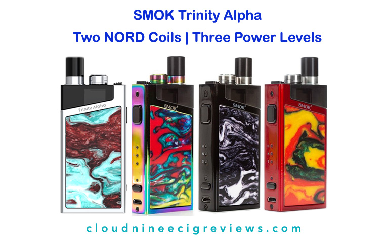 SMOK TRINITY ALPHA Two Nord Coils _ Three Power Levels Title Image