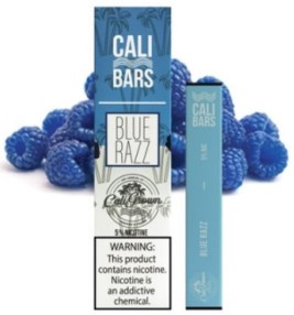 Cali Bar Blue Razz with box