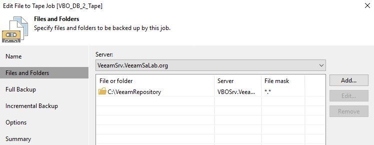 Veeam VBO365 Repo to Tape - CloudOasis