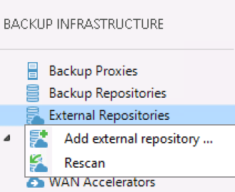 Veeam External Repository
