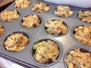 Thanksgiving Dinner Stuffing Muffins