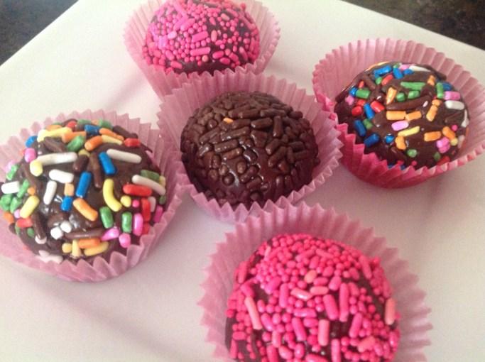 Simple Valentine's Day Treat- Dark Chocolate Brigadeiros