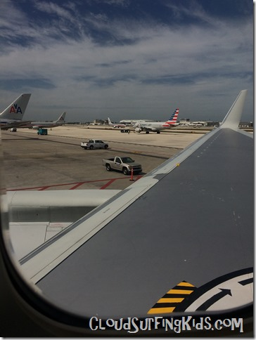 Travel Day- Airplane view MIA airport