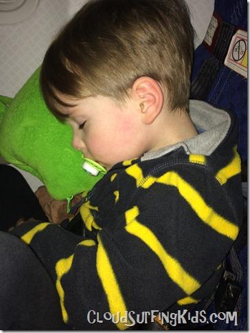 Travel Day-Sleeping Preschooler