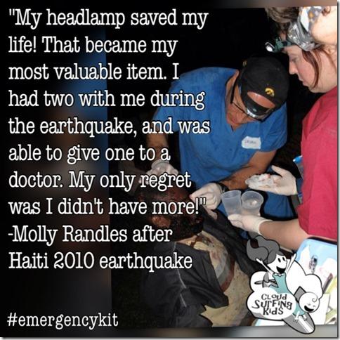 Travel Emergency Kit Headlamp
