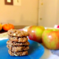 Apple and Crystallized Ginger Oatmeal Cookies