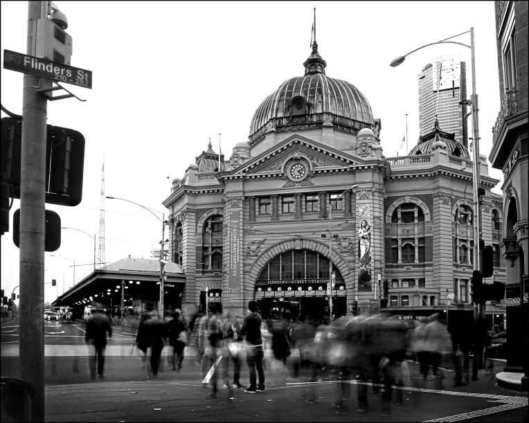 Flinders street station BW