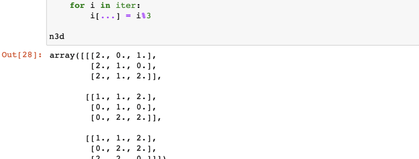 Shows the code editor in Python