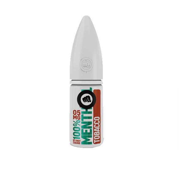Riot Squad 100% Menthol Range 20Mg Nic Salts 10ml E-liquid, Cloud Vaping UK