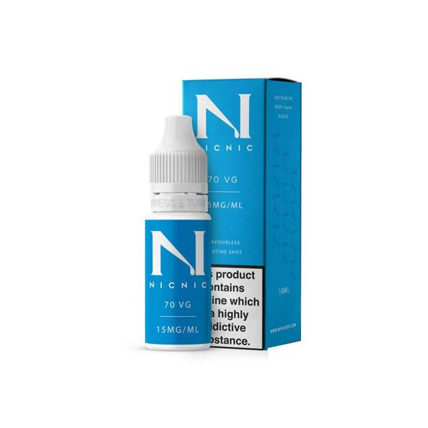 15mg Nic Nic Flavourless Nicotine Shot 10ml 70VG, Cloud Vaping UK