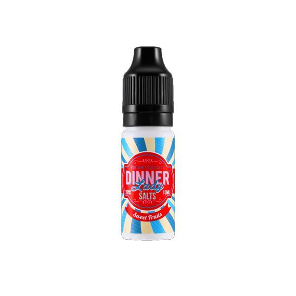 Dinner Lady 10ml 20Mg Flavoured Nic Salt E-liquid, Cloud Vaping UK
