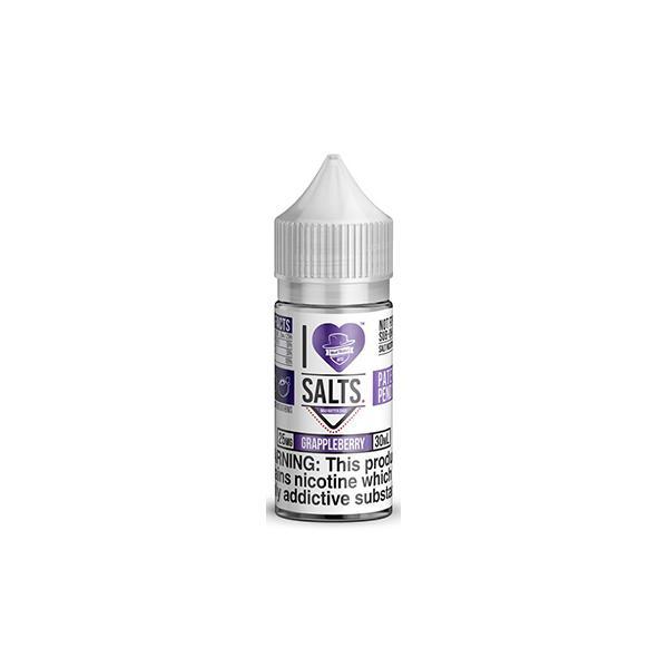 I Love Salts by Matter Hatter Juice 10ML 20Mg Flavoured Nic Salts E-liquid, Cloud Vaping UK