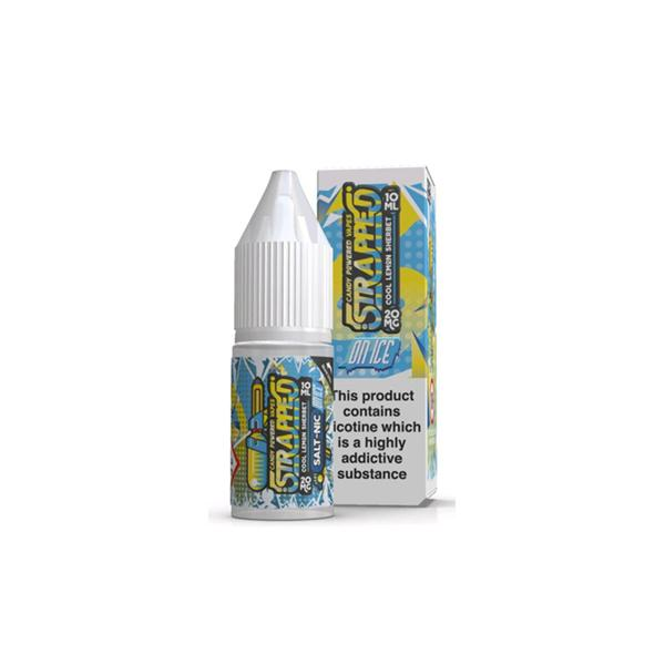 Strapped On ICE 10ml 20Mg Flavoured Nic Salt E-liquid, Cloud Vaping UK