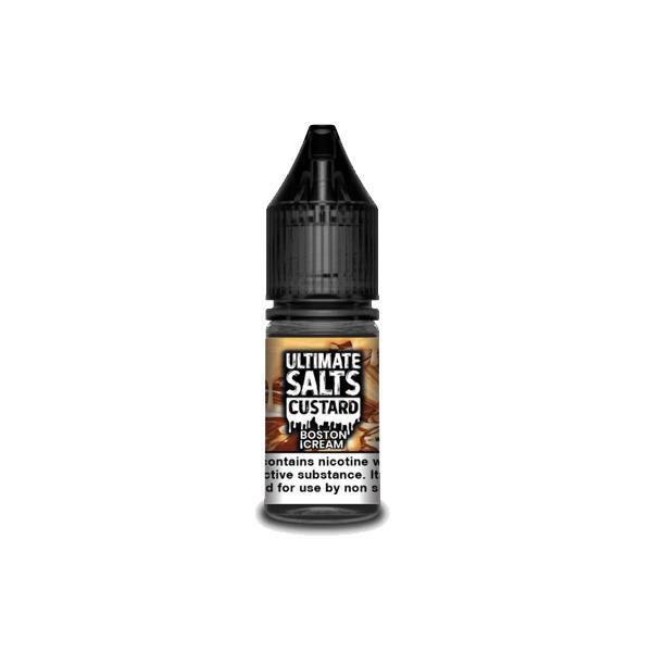 Ultimate Puff Salts Custard 10ML Flavoured 20Mg Nic Salts E-liquid, Cloud Vaping UK