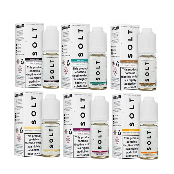 SOLT 10ML20Mg Flavoured Nic Salts E-liquid, Cloud Vaping UK