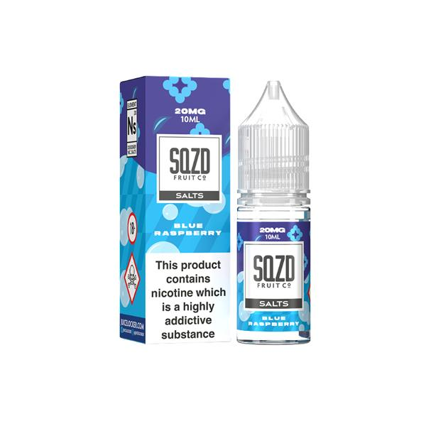 Sqzd Flavoured Nic Salts 10ml 20Mg E-liquid, Cloud Vaping UK