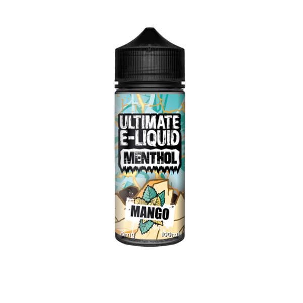Ultimate E-liquid Menthol by Ultimate Puff 100ml Shortfill, Cloud Vaping UK