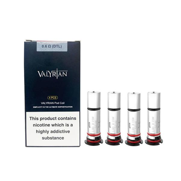 Uwell Valyrian Replacement Coil 0.6Ω DTL/1.0Ω, Cloud Vaping UK