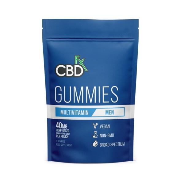 CBDfx Gummies – MENS Multivitamin (Pouch of 8), Cloud Vaping UK