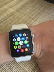 Apple Watch - 38mm silver aluminum case with white sports band