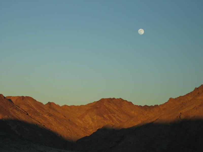 Full moon in the desert