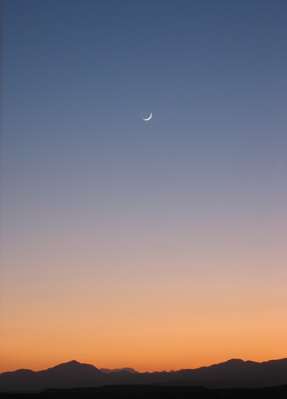 Sunset and the Moon