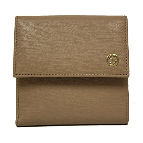 Gucci Betty Shangai Metal Interlocking GG Logo Light Pink Leather Wallet
