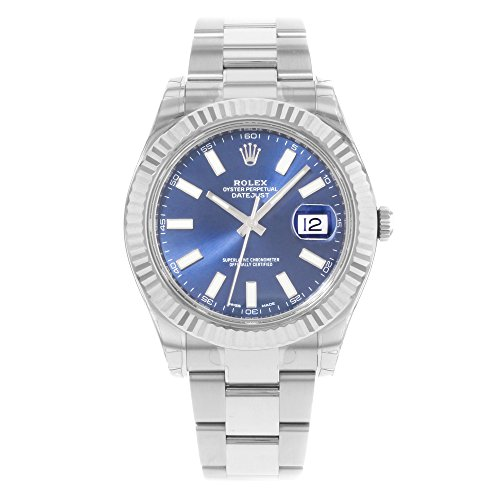 NEW Rolex Datejust II Stainless Steel and 18K White Gold Blue Dial Mens watch BLIO by Rolex
