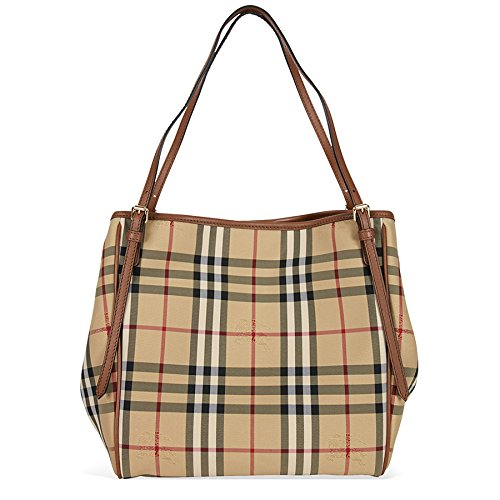 20e0b746df54 Burberry Women s  Small Canter  Horseferry Check Tote Bag with Equestrian  Saddle Straps Honey Tan · Home Shop Women Accessories Handbags ...