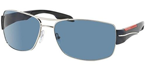 Prada Sport Sunglasses - PS53NS / Frame: Silver Blue Lens: Gray Gradient