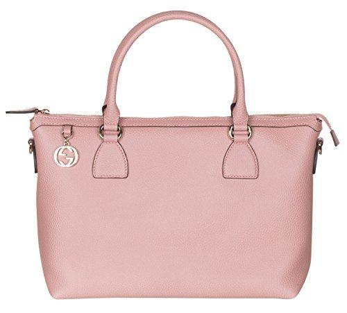 Gucci Soft Pink Calf Leather GG Pendant Hobo Shoulder Bag