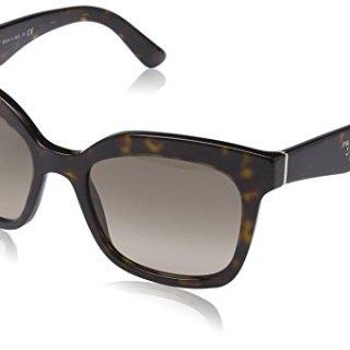 Prada Women's Sunglasses Havana / Light Brown Grad Light Grey 53mm