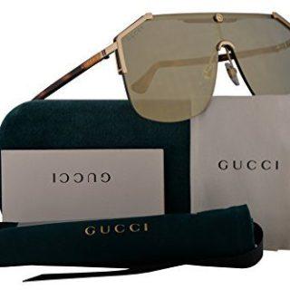 Gucci Sunglasses Gold Havana w/Bronze Lens 99mm