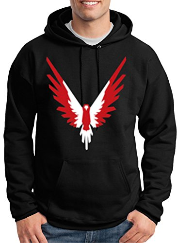 MYOS Red-White Maverick Bird Black Hoodie