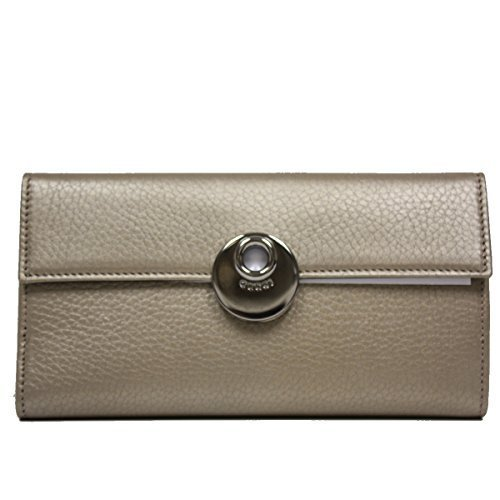 Gucci Metallic Leather Continental Flap Wallet, Gold