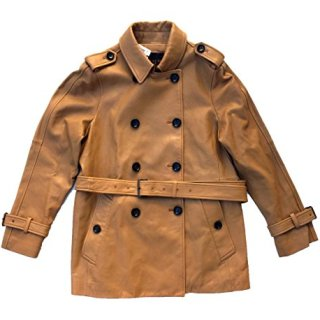 Coach Women's Dylan Soft Leather Short Trench Coat Soft Camel (M)