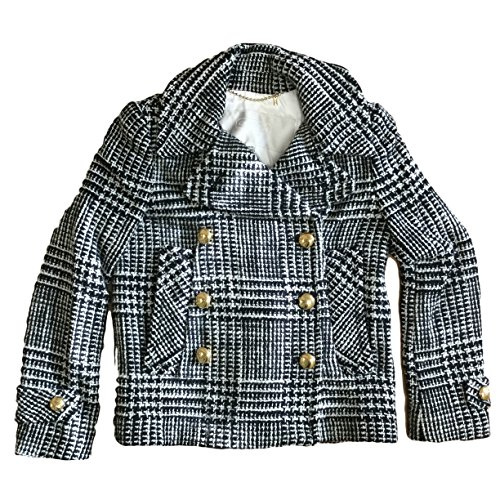 Coach Women's Emnlle Novelty Peacoat Wool Blend Jacket Multicolor (XSmall)