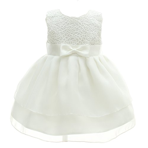 Moon Kitty Baby Girls Dresses Pageant Bow Formal Dress,White,0-6 Months …