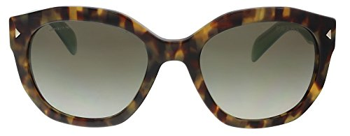 Prada Women's PR Sunglasses Spotted Brown Green/Green Gradient Grey 53mm