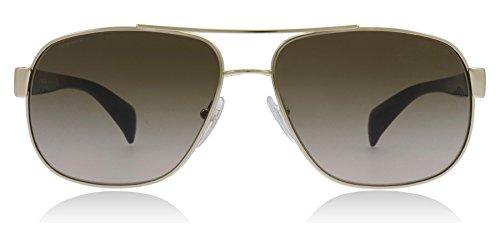 Prada Sunglasses - Frame: Pale Gold Lens: Grey Gradient
