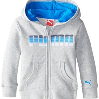 PUMA Baby Boys' Hoodie, Light Heather Grey, 24 Months