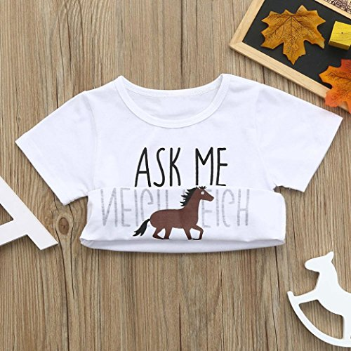 d43d215103f Home Shop Baby Baby Girls Clothing Sleepwear   Robes ®GBSELL Little Girls  Boys Summer Clothes Cow Horse Inside Letter Soft Tops Cute T-Shirt (Horse