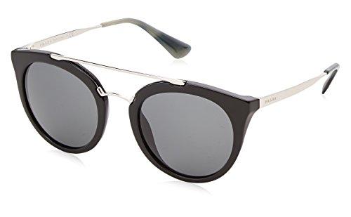 Prada Black / Gunmetal 23Ss Round Sunglasses Lens Category 3 Size 5