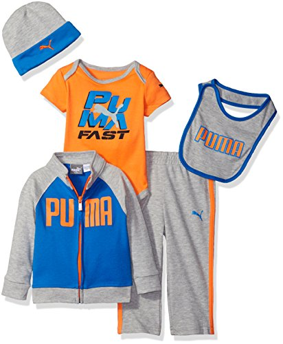 PUMA Baby' 5 Piece Hoodie Set, Lt Heather Grey, 0/3M
