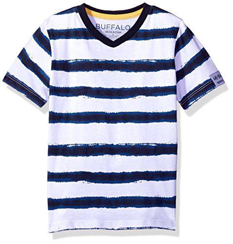 Buffalo by David Bitton Big Boys' Kampello Short Sleeve Tee Shirt, Insignia Blue, M