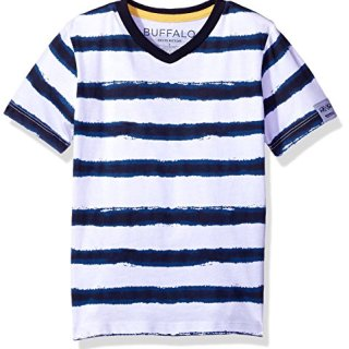 Buffalo by David Bitton Big Boys' Kampello Short Sleeve Tee Shirt, Insignia Blue, M