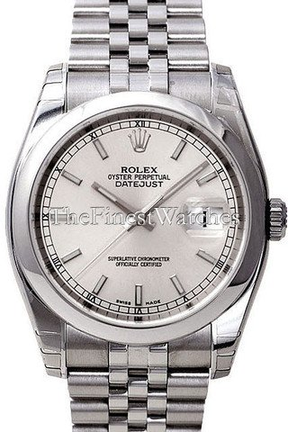 Rolex Datejust 36 White Index Dial Steel Oyster Watch
