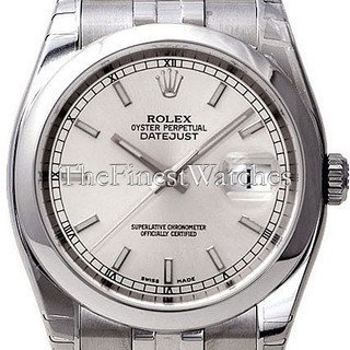 Rolex Datejust 36 White Index Dial Steel Oyster Watch