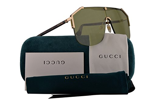 Gucci Sunglasses Gold Havana w/Green Lens 99mm 004 GG0291/S GG 0291/S GG 0291S