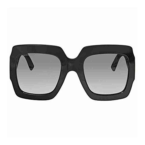 Gucci GG0102S Black / Grey Square Sunglasses Lens Category 3 Size 5